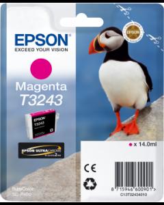 Encre Epson T3243 pour SureColor P400 : Magenta (C13T32434010)