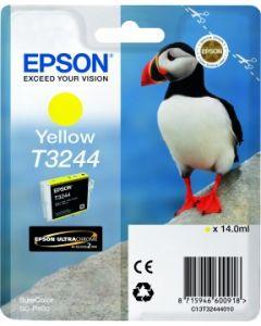 Encre Epson T3244 pour SureColor P400 : Jaune (C13T32444010)