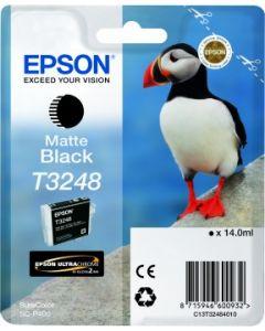 Encre Epson T3248 pour SureColor P400 : Noir Mat (C13T32484010)