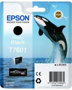 Encre Epson T7601 (Orque) pour SureColor P600 : Noir Photo (C13T76014010)