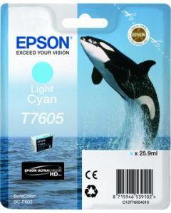 Encre Epson T7605 (Orque) pour SureColor P600 : Cyan Clair (C13T76054010)