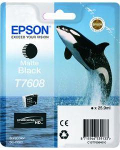 Encre Epson T7608 (Orque) pour SureColor P600 : Noir Mat (C13T76084010)
