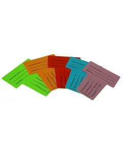 Cartons Identifications pour rouleaux (Pack de 10)