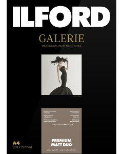 Papier Ilford Galerie Prestige Premium Matt Duo 200g A4 25 feuilles