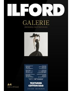 Papier Ilford Galerie Prestige Textured Cotton Rag 310g 10x15cm 50 feuilles
