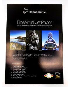 Hahnemühle Sample Pack : Pochette d'échantillons : Glossy FineArt A3+ (16 feuilles / 8 papiers)