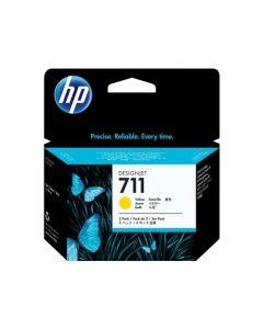 HP 711 Pack de 3 cartouches encre DesignJet Jaune - 29 ml - CZ136A