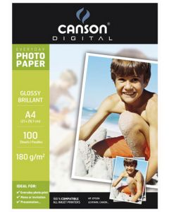Papier Canson Digital Everyday Photo Brillant 180g, A4 100 feuilles
