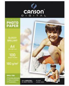 Papier Canson Digital Everyday Photo Brillant 180g, A4 10 feuilles