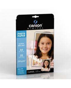 Papier Canson Digital Performance Photo Brillant 210g, A4 20 feuilles