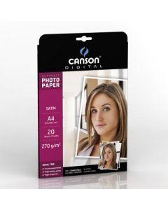 Papier Canson Digital Ultimate Photo Satin 270g, A4 20 feuilles