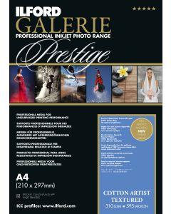 Papier Ilford Galerie Prestige Cotton Artist Textured 310g A3+ 25 feuilles