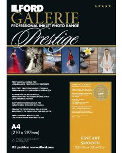 Papier Ilford Galerie Prestige FineArt Smooth 200g 10x15cm 50 feuilles