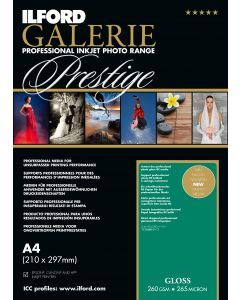 Papier Ilford Galerie Prestige Gloss 260g A3+ 25 feuilles
