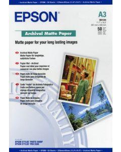 Papier Epson Mat Archival 189g, A3 50 feuilles