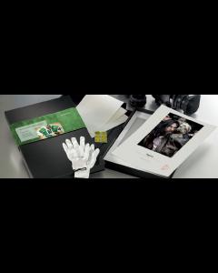 Hahnemuhle Portfolio Box : Coffret Photo Rag Metallic 340g A3+ 50f + 2 Gants + 3 Certificats