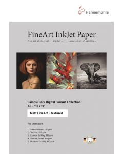 Hahnemühle Sample Pack  d'échantillon : Matt Fine Art Texturé, A4, (10 feuilles / 5 papiers)
