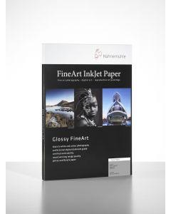 Papier Hahnemühle Fine Art Baryta 325g 30 feuilles 10x15 cm (A6 format carte postale) - Coins arrondis