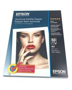 Papier Epson Mat Archival 189g, A4 50 feuilles