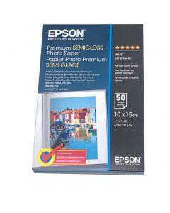Papier Epson Photo Semi-Glace Premium 251g, 10x15cm - 50 feuilles