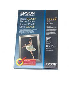 Papier Epson Ultra glacé 10x15, 300g, 20 feuilles
