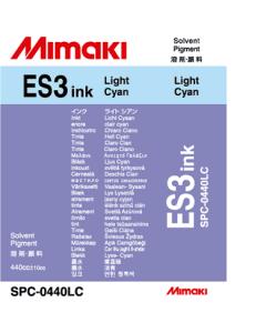Encre Mimaki ES3 pour JV33, JV5, CJV - Light Cyan 440ml (SPC-0440LC)
