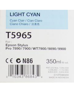 EPSON T5965 (C13T596500) - Cartouche d'encre Cyan Clair 350ml
