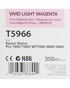 EPSON T5966 (C13T596600) - Cartouche d'encre Vivid Magenta Clair 350ml