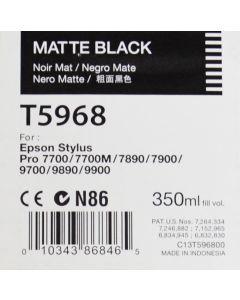 EPSON T5968 (C13T596800) - Cartouche d'encre Noire Mat 350ml