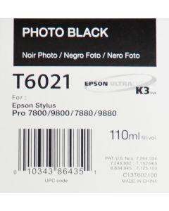 EPSON T6021 (C13T602100) - Noir Photo 110ml