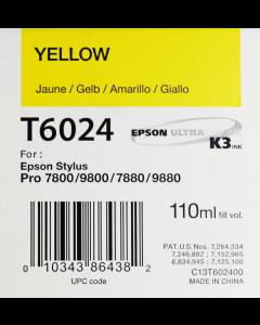 EPSON T6024 (C13T602400) - Jaune 110ml