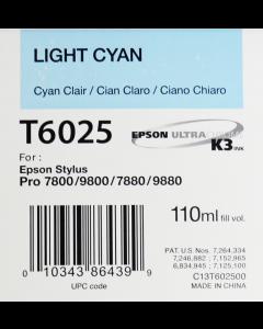 EPSON T6025 (C13T602500) - Cyan Clair 110ml