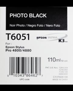 EPSON T6051 (C13T605100) - Noir Photo 110ml