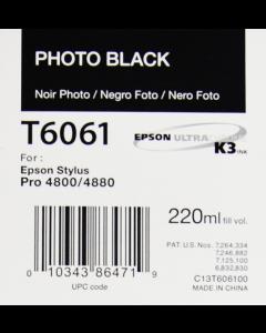 EPSON T6061 (C13T606100) - Noir Photo 220ml