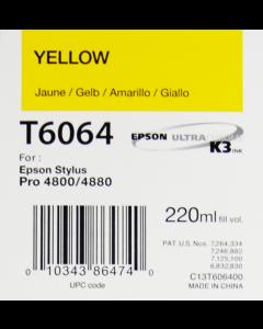 EPSON T6064 (C13T606400) - Jaune 220ml