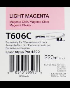 EPSON T606C (C13T606C00) - Magenta Clair 220ml