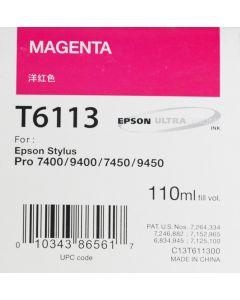 EPSON T6113 (C13T611300) - Pigment Magenta 110ml