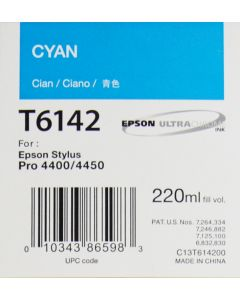 EPSON T6142 (C13T614200) Encre Cyan 220ml