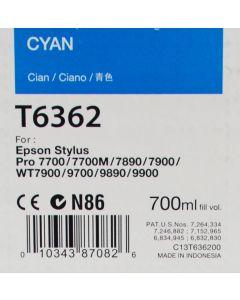 EPSON T6362 (C13T636200) - Cartouche d'encre Cyan - 700ml