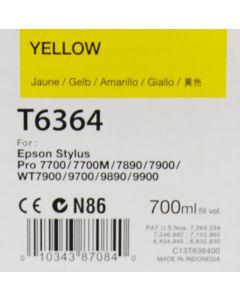 EPSON T6364 (C13T636400) - Cartouche d'encre Jaune - 700ml