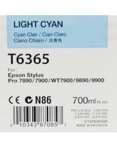 EPSON T6365 (C13T636500) - Cartouche d'encre Cyan Clair - 700ml