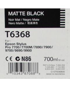 EPSON T6368 (C13T636800) - Cartouche d'encre Noir Mat - 700ml
