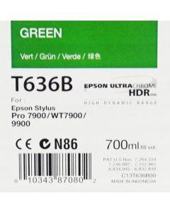 EPSON T636B (C13T636B00) - Cartouche d'encre Vert - 700ml