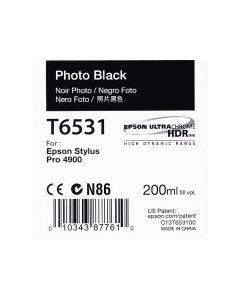 Epson T6531 (C13T653100) - Cartouche d'encre Noir Photo 200ml