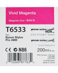 Epson T6533 (C13T653300) - Cartouche d'encre Vivid Magenta 200ml