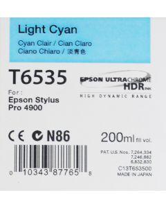 Epson T6535 (C13T653500) - Cartouche d'encre Cyan Clair 200ml