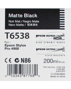 Epson T6538 (C13T653800) - Cartouche d'encre Noir Mat 200ml