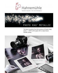 Papier Hahnemühle Photo Rag Metallic 340g, A2 25 feuilles