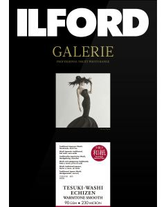 Papier Ilford Galerie Tesuki-Washi Echizen Warmtone Smooth 90g 10x15cm 50 feuilles