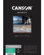 Papier Canson Infinity Aquarelle Rag 310g, A3+ 25 feuilles